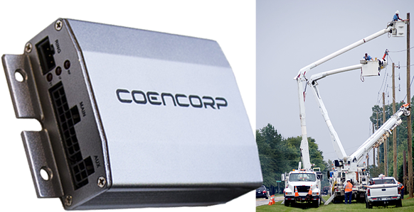 Coencorp-equipment-tracking-unit-gps-tracker-for-fleets-service-vehicles-working-on-power-lines