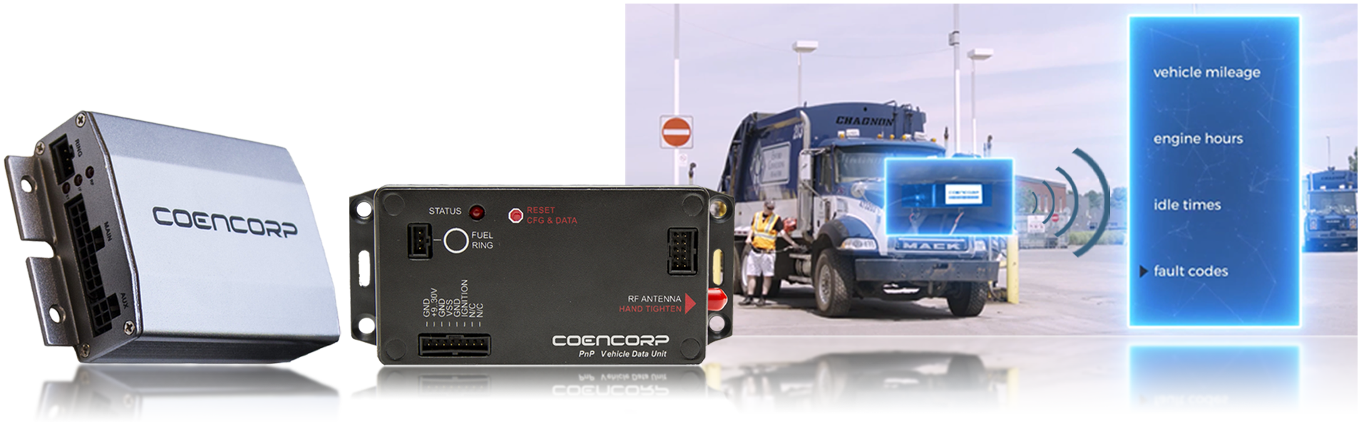 Coencorp's VDU and other hardware peripherals that  make fleet maintenance management easy.